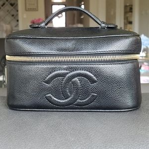 Chanel Vintage Vanity Case Caviar Leather